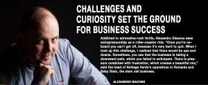 Challenges and curiosity set the ground for  business success 1