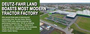 Deutz-Fahr Land  boasts most modern tractor factory 1